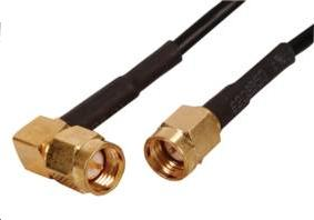 Cable SMA Wifi Male droit - Male coude - 1.5 m