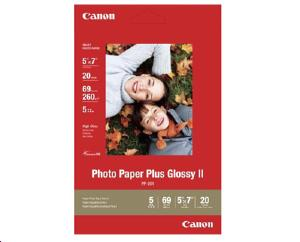 Papier Canon - PP-201 - Photo Plus Glossy II - 20 feuilles - Format 13x18 - 2311B018