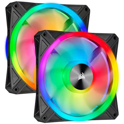 Pack de 2 Ventilateur 14 cm - CORSAIR - QL140 RGB - LED - NOIR ( CO-9050100-WW )
