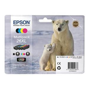 Cartouche Epson T2636 - Multipack XL - C13T26364010 - Ours Polaire