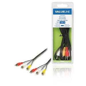 Cable 3 RCA vers 3 RCA - Male / Male - 1.5m
