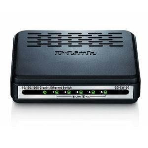 Switch - D-LINK - 5 Ports - GO-SW-5G - 10/100/1000Mbits - Gigabits