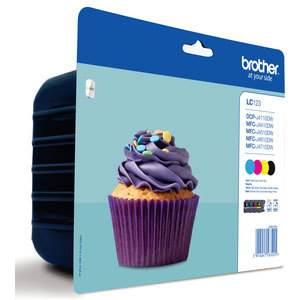 Cartouche Brother LC123VALBP - Multipack (Noir/Cyan/Magenta/Jaune)