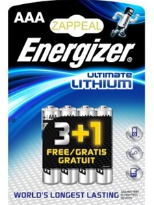 Piles Energizer AAA Ultimate Lithium - LR03