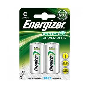 Piles Energizer Rechargeable Powerplus 2500mAh - Type C - LR14