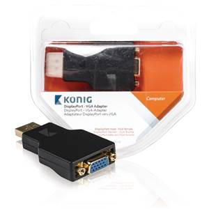 Adaptateur DISPLAY Port - VGA - KONIG KNC37935E