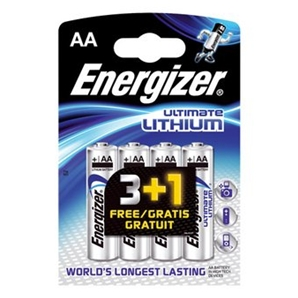 Piles Energizer AA Ultimate Lithium - LR06