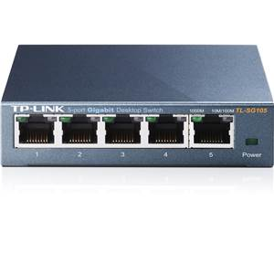 Switch - TPLINK - 5 Ports - TL-SG105 - 10/100/1000Mbits - Gigabits