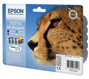 Multipacks Cartouches Epson T0715 ( T0711/T0712/T0713/T0714 ) - Guepard