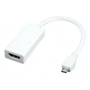 Cable Adaptateur Micro USB Male vers HDMI Male - Fonction MHL - VLMP39000W0.20