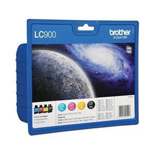 Pack 4 Cartouches Brother LC900C